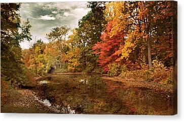 Twin Pond Autumn Canvas Print