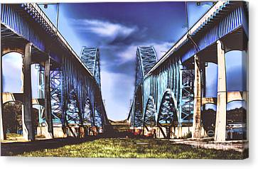 Twin Spanned Arched Canvas Print by Jim Lepard