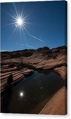 Twin Stars Reflection Canvas Print