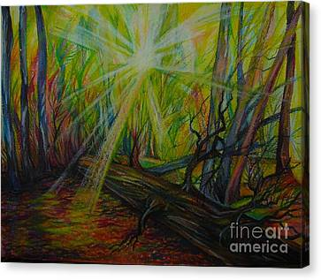 Twinkle Twinkle Autumn Light Canvas Print by Anna  Duyunova