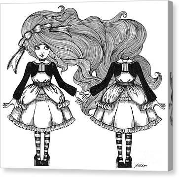 Twins Alice Canvas Print
