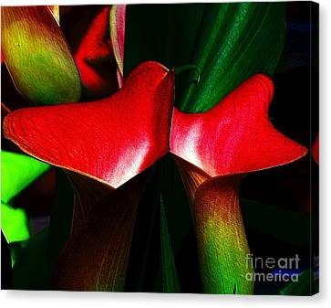 Canvas Print featuring the photograph Twins by Elfriede Fulda