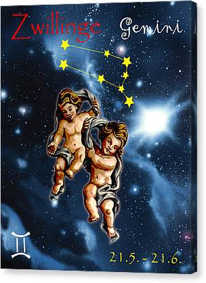 Twins Of Heaven Canvas Print by Johannes Margreiter