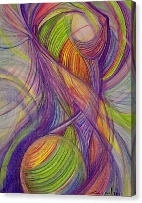 Twist Canvas Print by Caroline Czelatko