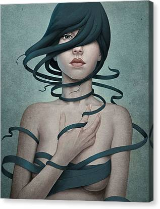 Woman Canvas Print - Twisted by Diego Fernandez