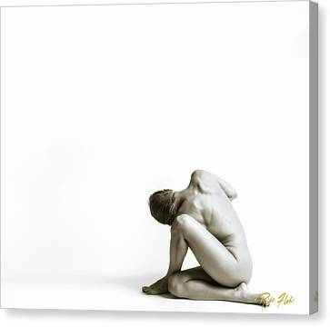 Canvas Print featuring the photograph Twisted Figure On White by Rikk Flohr