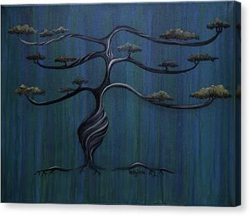 Twisted Oak Canvas Print by Kelly Jade King
