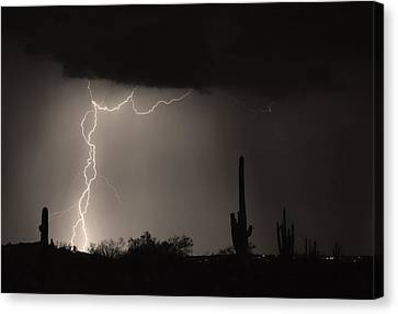 Twisted Storm - Sepia Print Canvas Print by James BO  Insogna