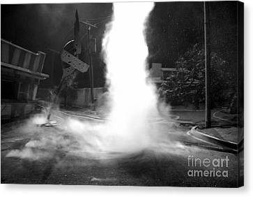 Twister In The Neighborhood Canvas Print by David Lee Thompson