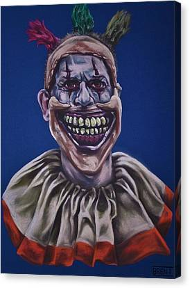 Sideshow Canvas Print - Twisty The Clown  by Brent Andrew Doty