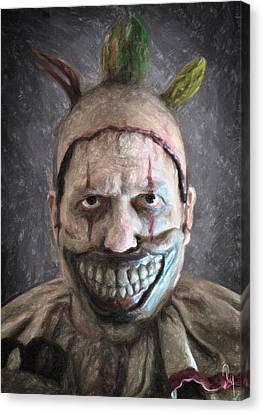 Twisty The Clown Canvas Print by Taylan Apukovska