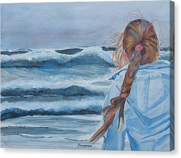 Braids Canvas Print - Twixt Wind And Water II by Jenny Armitage