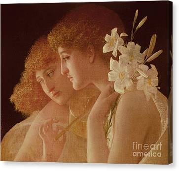 Youthful Canvas Print - Two Angels by Charles Francois Sellier