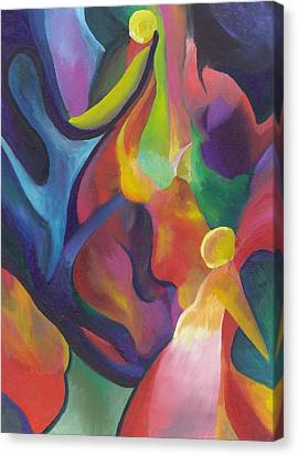 Two Angels Canvas Print by Peter Shor