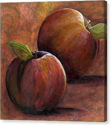 Two Apples Canvas Print by Sandy Clift