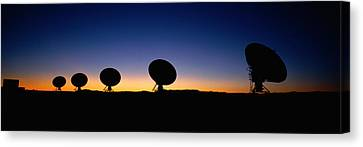 Two Arraysatellite Dishes In Different Canvas Print