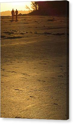 Two At Sunset Canvas Print by Mark Alan Perry