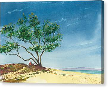 Two At The Beach Canvas Print by Ray Cole