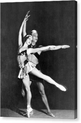 Ballet Dancers Canvas Print - Two Ballet Dancers by Underwood Archives