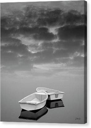 Two Boats And Clouds Canvas Print by Dave Gordon