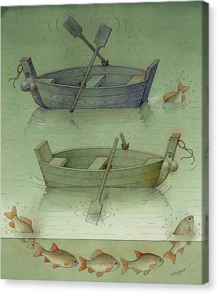 Two Boats Canvas Print by Kestutis Kasparavicius