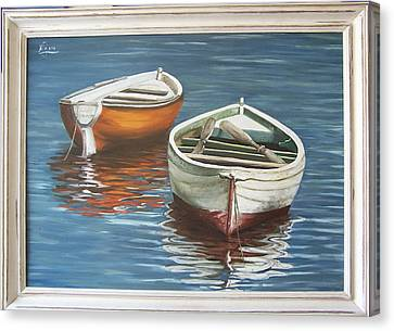Two Boats Canvas Print by Natalia Tejera