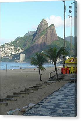 Two Brothers In Rio Canvas Print by Joe  Burns