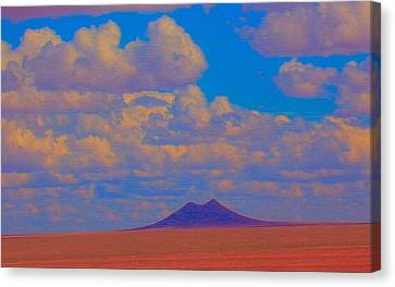 Robert Morrissey Canvas Print - Two Butte Colorado by Robert Morrissey
