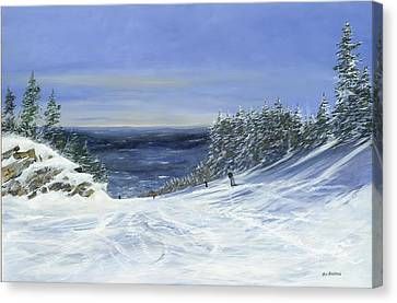 Canvas Print featuring the painting Two By Two by Ken Ahlering