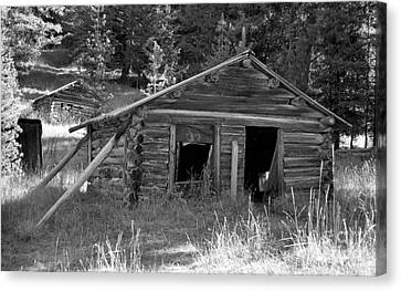 Two Cabins One Outhouse Canvas Print by Richard Rizzo