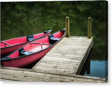 Two Canoes Canvas Print by James Barber
