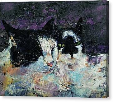 Two Cats Canvas Print by Michael Creese