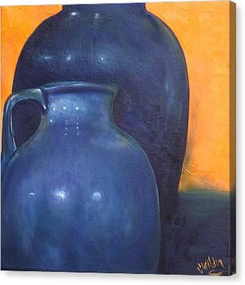 Two Ceramic Pots Canvas Print