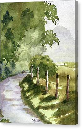 Mist Canvas Print - Two Ducks by Marsha Elliott