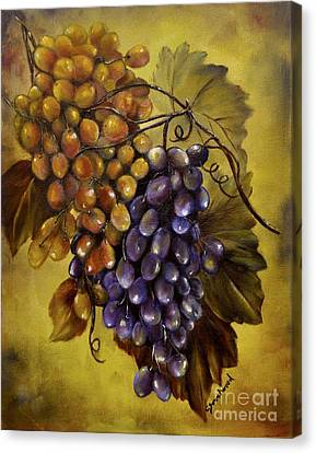 Concord Grapes Canvas Print - Two Choices by Carol Sweetwood