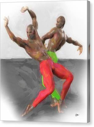 Ballet Dancers Canvas Print - Two Classic Dancers by Quim Abella