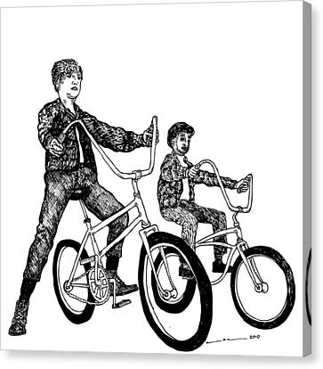 Two Cool Riders Canvas Print by Karl Addison