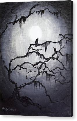 Two Crows And Spanish Moss Canvas Print