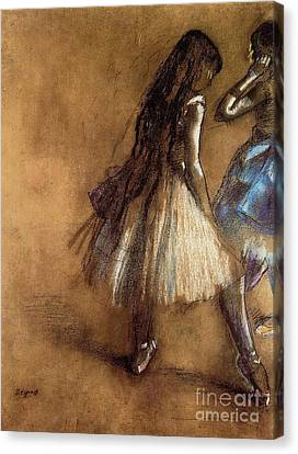 Two Dancers Canvas Print by Degas