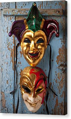 Two Decortive Masks Canvas Print by Garry Gay