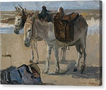 Two Donkeys Canvas Print by Isaac Israels