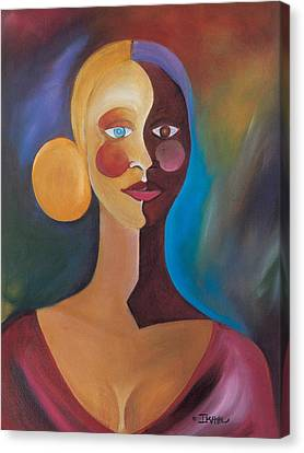 Black Artist Canvas Print - Two Faces Of Eve by Ikahl Beckford