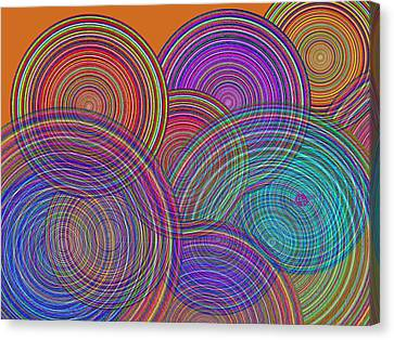 Two Families Join In Circles Of Harmony 1 Canvas Print by Tony Rubino