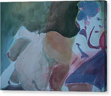 Two Figures Canvas Print by Aleksandra Buha