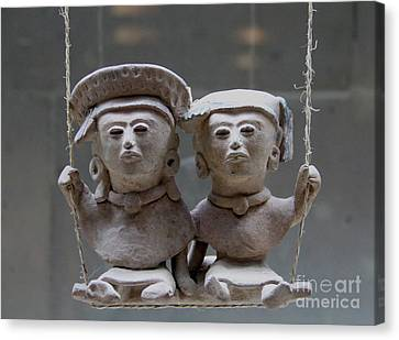 Canvas Print - Two Figures On A Swing Veracruz Mexico by Linda Queally
