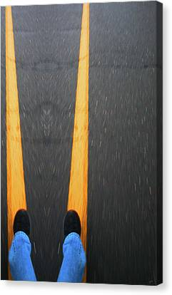 Two For The Road Canvas Print by Karol Livote