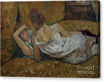 Two Friends Canvas Print by Henri de Toulouse-Lautrec