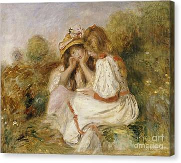Two Girls Canvas Print by Pierre Auguste Renoir