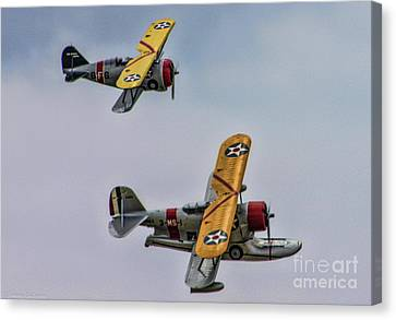 F3f Canvas Print - Two Grummans by Tommy Anderson