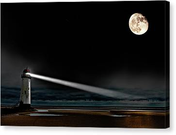Two Guiding Lights Canvas Print by Meirion Matthias